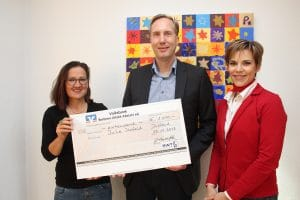 Donation handover to JuLe Ilsfeld